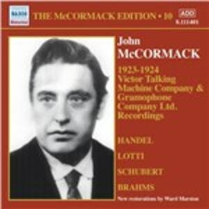 Edition vol.10. 1923-1924 - CD Audio di John McCormack