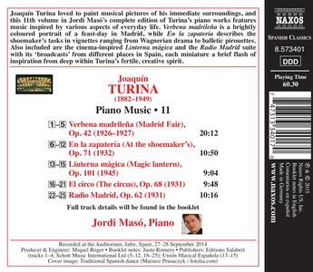 Integrale delle opere per pianoforte vol.11 - CD Audio di Joaquin Turina - 2