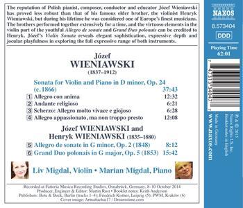 Musica per violino e pianoforte - CD Audio di Jozef Wieniawski - 2