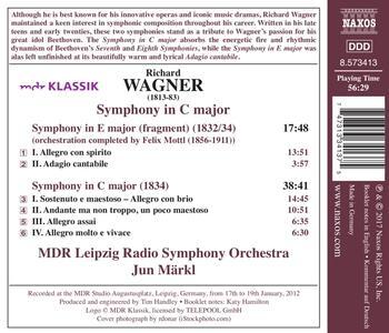 Sinfonia in Do - Sinfonia in Mi - CD Audio di Richard Wagner,Jun Märkl,MDR Leipzig Radio Symphony Orchestra - 2