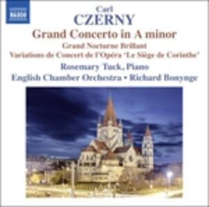 Grand Concerto in La minore op.214 - Gran Notturno brillante - CD Audio di Carl Czerny