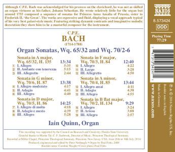 Sonate per organo - CD Audio di Carl Philipp Emanuel Bach - 2