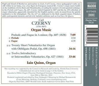 Musica per organo - CD Audio di Carl Czerny,Iain Quinn - 2