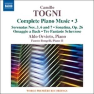 Opere per pianoforte vol.3 - CD Audio di Camillo Togni