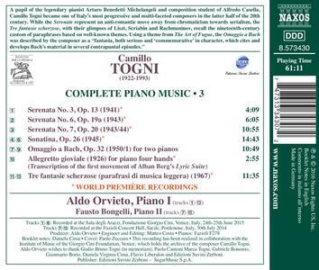 Opere per pianoforte vol.3 - CD Audio di Camillo Togni - 2