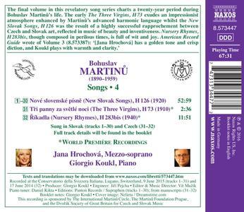 Lieder - CD Audio di Bohuslav Martinu - 2