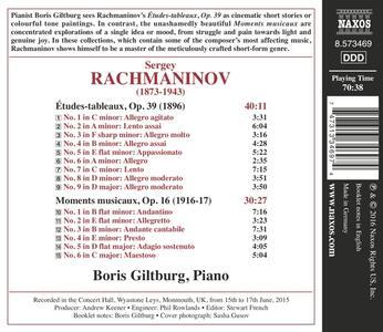Études Tableaux op.39 - Moments Musicaux - CD Audio di Sergej Vasilevich Rachmaninov - 2