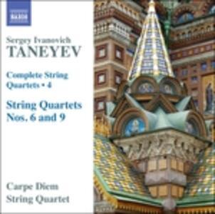 Quartetti per archi vol.4 - CD Audio di Sergei Ivanovich Taneyev