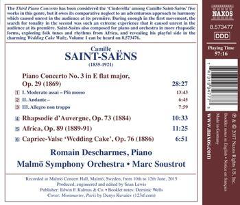 Concerto per pianoforte n.3 op.29 - Rhapsodie d'Auvergne op.73 - CD Audio di Camille Saint-Saëns,Malmö Symphony Orchestra,Marc Soustrot - 2