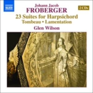 23 suites per clavicembalo. Libro Primo - CD Audio di Johann Jacob Froberger