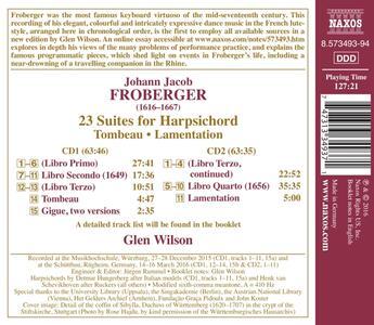 23 suites per clavicembalo. Libro Primo - CD Audio di Johann Jacob Froberger - 2