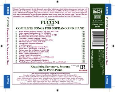 Liriche da camera complete per soprano e pianoforte - CD Audio di Giacomo Puccini,Maria Prinz,Krassimira Stoyanova - 2