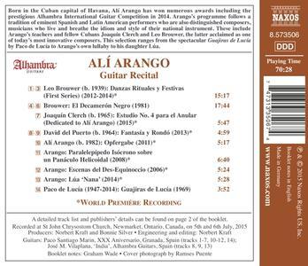 "Alí Arango - Vincitore Del Concorso ""alhambra"" 2014 - Laureate Series - CD Audio di Alí Arango - 2"