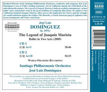 La Leyenda de Joaquín Murieta - CD Audio di José Luis Dominguez - 2