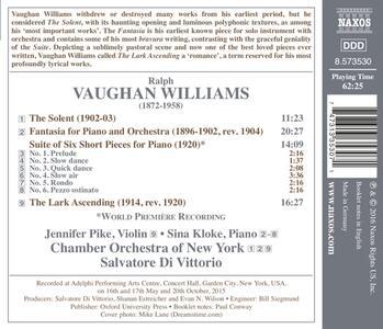 The Lark Ascending - Suite of 6 Short Pie - CD Audio di Ralph Vaughan Williams - 2