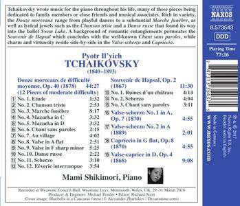 Douze morceaux op.40 - Souvenir de Hapsal - CD Audio di Pyotr Il'yich Tchaikovsky,Mami Shikimori - 2