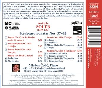 Sonate per tastiera nn.57-62 - CD Audio di Antonio Soler - 2