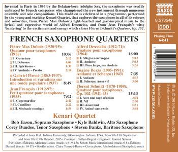French Saxophone Quartets - CD Audio di Gabriel Pierné - 2