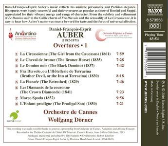 Ouvertures vol.1 - CD Audio di Daniel-François-Esprit Auber - 2