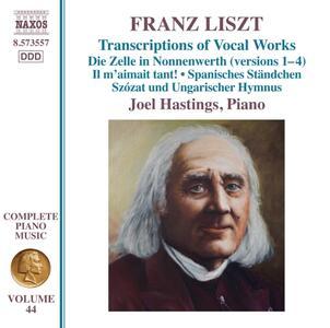 Transcriptions of Vocal Works - CD Audio di Franz Liszt