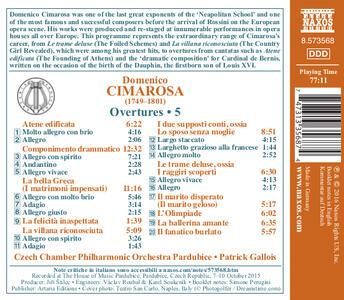 Ouvertures vol.5 - CD Audio di Domenico Cimarosa - 2