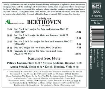 Musica da camera per flauto vol.1 - CD Audio di Ludwig van Beethoven,Kazunori Seo - 2