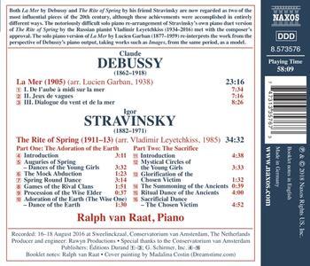 La sagra della primavera (Le Sacre du Printemps) - CD Audio di Claude Debussy,Igor Stravinsky,Ralph van Raat - 2