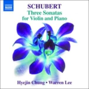 Three Sonatas For Violin - CD Audio di Franz Schubert