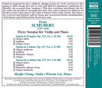 Three Sonatas For Violin - CD Audio di Franz Schubert - 2