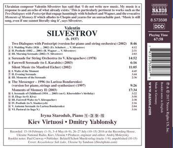 Moments of Memory II - Serenade - Silent Music - The Messanger - 1996 - CD Audio di Valentin Silvestrov - 2