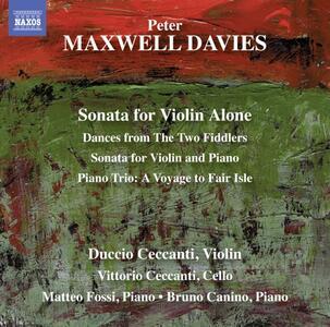 Sonata per violino solo - CD Audio di Sir Peter Maxwell Davies