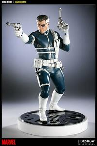 Action Figure Nick Fury Comiquette Polystone Sideshow Collectibles