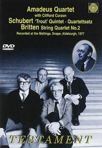 Amadeus Quartet. Britten String Quartet No. 3 - Schubert String Quintet in C - DVD