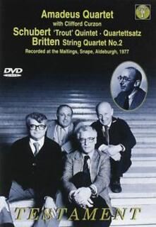 Amadeus Quartet. Britten String Quartet No. 3 - Schubert String Quintet in C - DVD