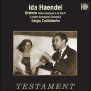 Concerto per violino op.77 - Vinile LP di Johannes Brahms,Sergiu Celibidache,Ida Haendel