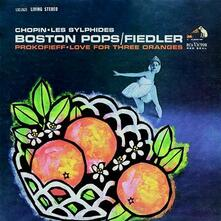 Love for Three Oranges / Les sylphides / Les préludes - Mazeppa - Vinile LP di Fryderyk Franciszek Chopin,Franz Liszt,Sergej Sergeevic Prokofiev,Boston Pops Orchestra,Arthur Fiedler