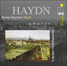 Quartetti per archi op.50 n.2, n.3, n.6 vol.8 - CD Audio di Franz Joseph Haydn