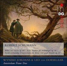 Composizioni per pianoforte a quattro mani - SuperAudio CD ibrido di Robert Schumann,Amsterdam Piano Duo