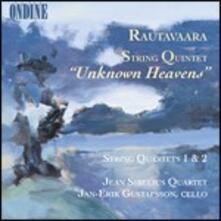 Unknown Heavens. Quartetto per archi n.1, n.2 - CD Audio di Einojuhani Rautavaara