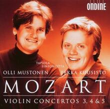 Concerti per violino n.3, n.4 - CD Audio di Wolfgang Amadeus Mozart