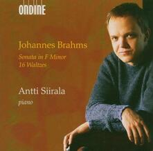 Sonata per pianoforte op.5 n.3 - 16 Valzer - CD Audio di Johannes Brahms