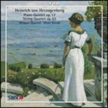 Quintetto con pianoforte op.17 - Quintetto per archi op.63 - CD Audio di Heinrich von Herzogenberg,Minguett Quartett