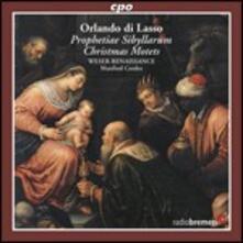 Prophetiae Sibyllarum - Mottetti di Natale - CD Audio di Orlando Di Lasso,Weser-Renaissance Bremen,Manfred Cordes