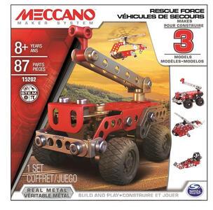 Meccano. Rescue Force. Confezione 3 Modelli 80 Pz - 2