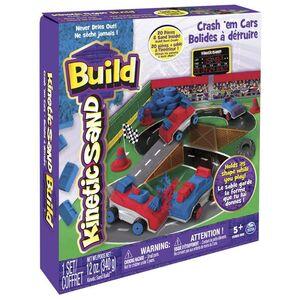 Giocattolo Kinetic Sand Build. Playset Auto da Scontro Spin Master