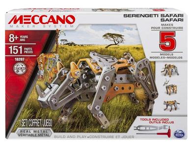Giocattolo Meccano. Safari. Confezione 5 Modelli 151 pezzi Spin Master