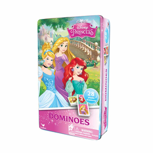 Giocattolo Domino Principesse Disney in Confezione di Latta Spin Master