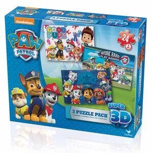 Giocattolo Confezione 3 Puzzle Paw Patrol Lenticolare 3D Spin Master