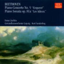 Concerto per pianoforte n.5 - Sonata per pianoforte n.26 - CD Audio di Ludwig van Beethoven,Kurt Sanderling,Gewandhaus Orchester Lipsia,Dieter Zechlin