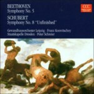 Sinfonia n.5 / Sinfonia n.8 - CD Audio di Ludwig van Beethoven,Franz Schubert,Gewandhaus Orchester Lipsia,Staatskapelle Dresda,Franz Konwitschny